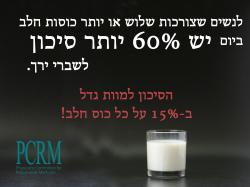 הסיכון למוות משתיית חלב גדל ב-15 אחוז